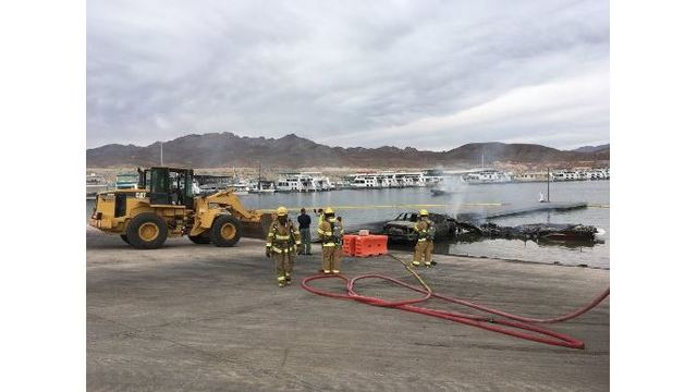 2 injured in vessel fire near boat ramp on Lake Mead