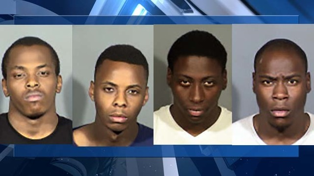 4 arrested for alleged armed robbery spree in Henderson, Las Vegas