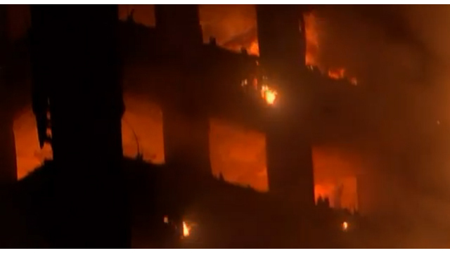 At least 12 dead in massive London high rise fire