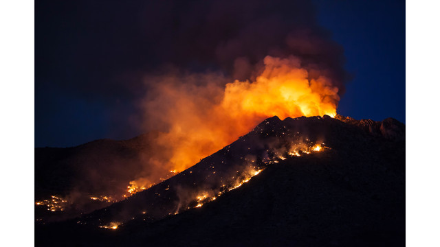 Fire at Potosi Mountain continues to grow