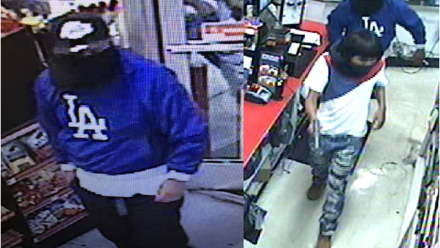 Metro police search for armed robbers