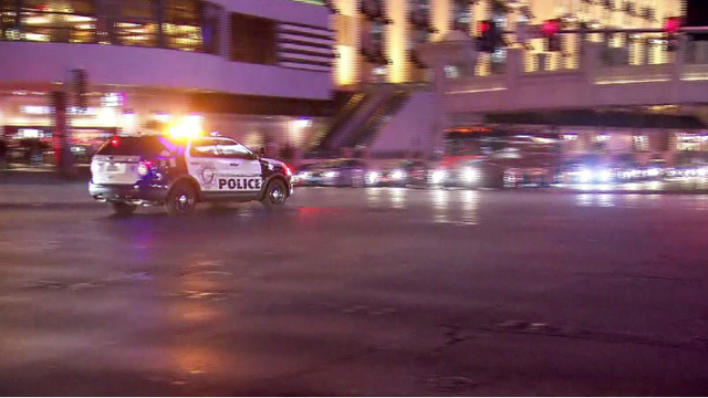 Fight at club on Vegas Strip prompts large police response