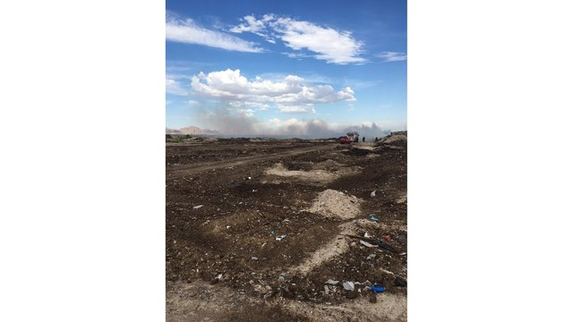 Pile of manure catches fire at former pig farm