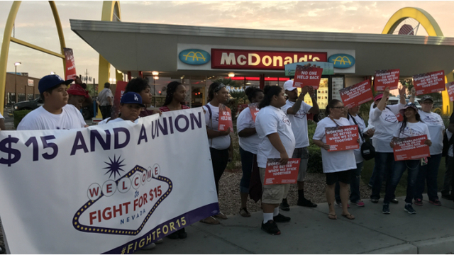 Workers rally for $15 minimum wage