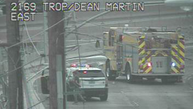 UPDATE: Motorcyclist dies in crash at Dean Martin and Tropicana