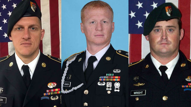 Department of Defense identifies three Special Forces soldiers killed in Niger ambush