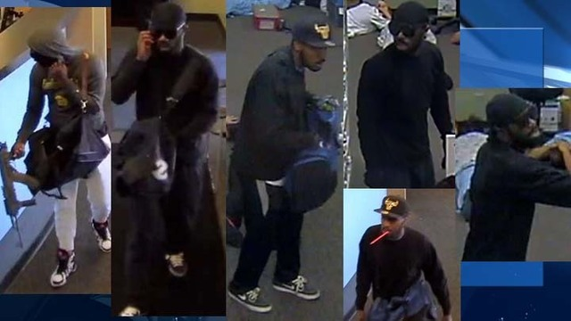 Metro searches for suspects who used rifles to rob employees of business