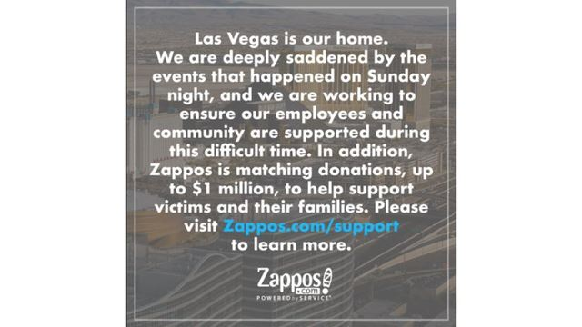 Zappos offers to help pay for funeral-related costs of shooting victims