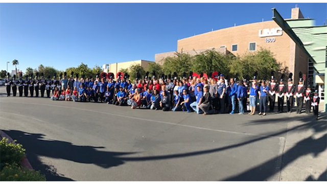 UNLV Marching Band honors UMC employees
