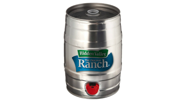 You can now purchase Hidden Valley ranch dressing by the keg
