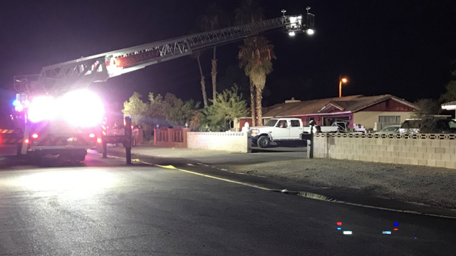 Early-morning fire damages Las Vegas home