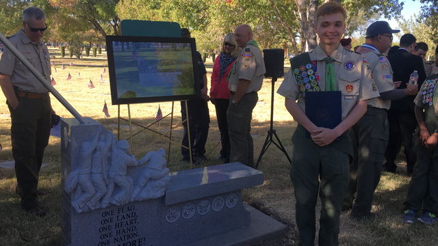 Local Eagle Scout candidate honors grandfather on Veterans Day