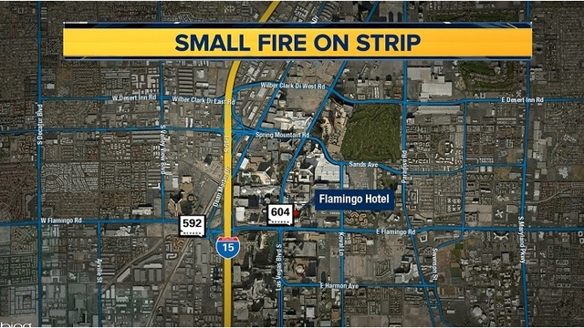 Small fire reported at Flamingo Hotel