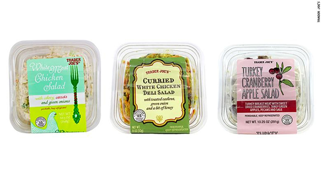 Trader Joe's chicken, turkey salads recalled after reports of glass fragments, silica