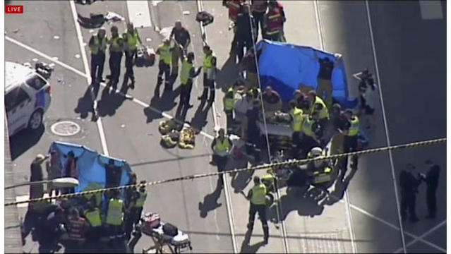 Auto 'deliberately' ploughs into Christmas shoppers in Melbourne leaving 19 injured