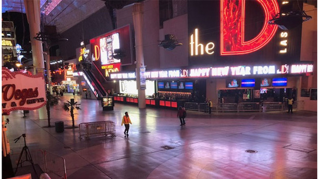 The quiet before the storm on Fremont Street