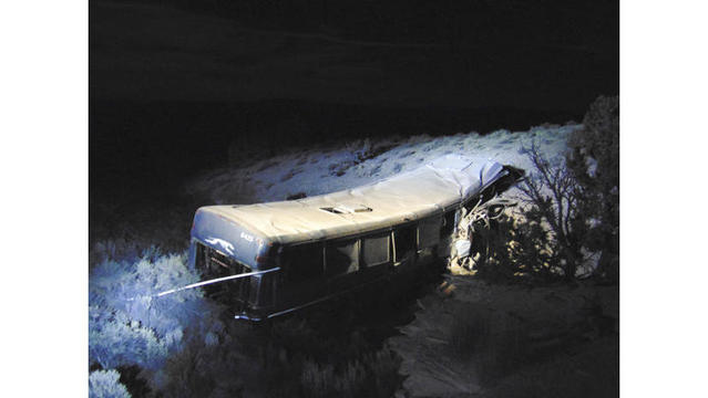 Greyhound bus crash in Utah leaves 13-year-old girl dead, 11 others injured