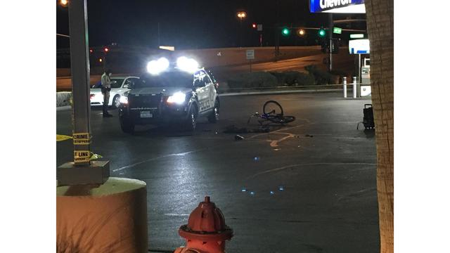 Metro patrol car and bicyclist collide
