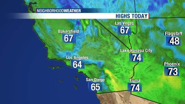 Highs Today - SW