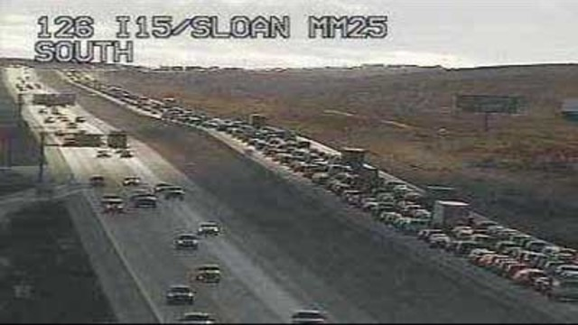 I-15 north and south backed up, expect long delays