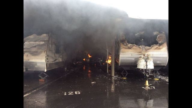 Trailers, RVs Go Up In Flames At Storage Facility.  Fire_at_Lake_Mead_U_Haul_Facility_8_1460242809503.
