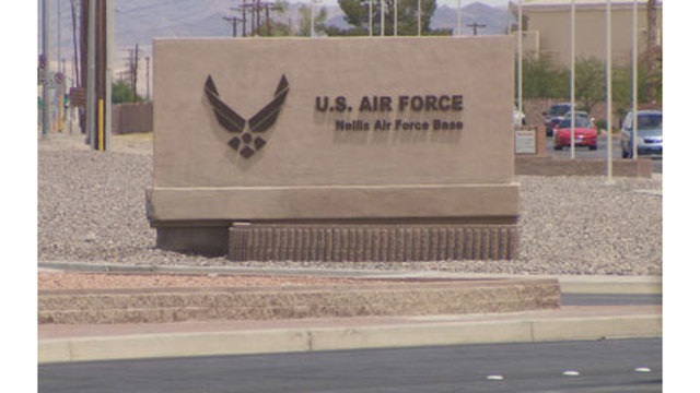 UPDATE: Military aircraft catches fire during takeoff at Nellis AFB