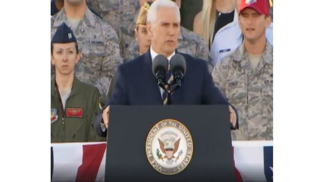 WATCH: VP Pence gives remarks at Nellis Air Force Base