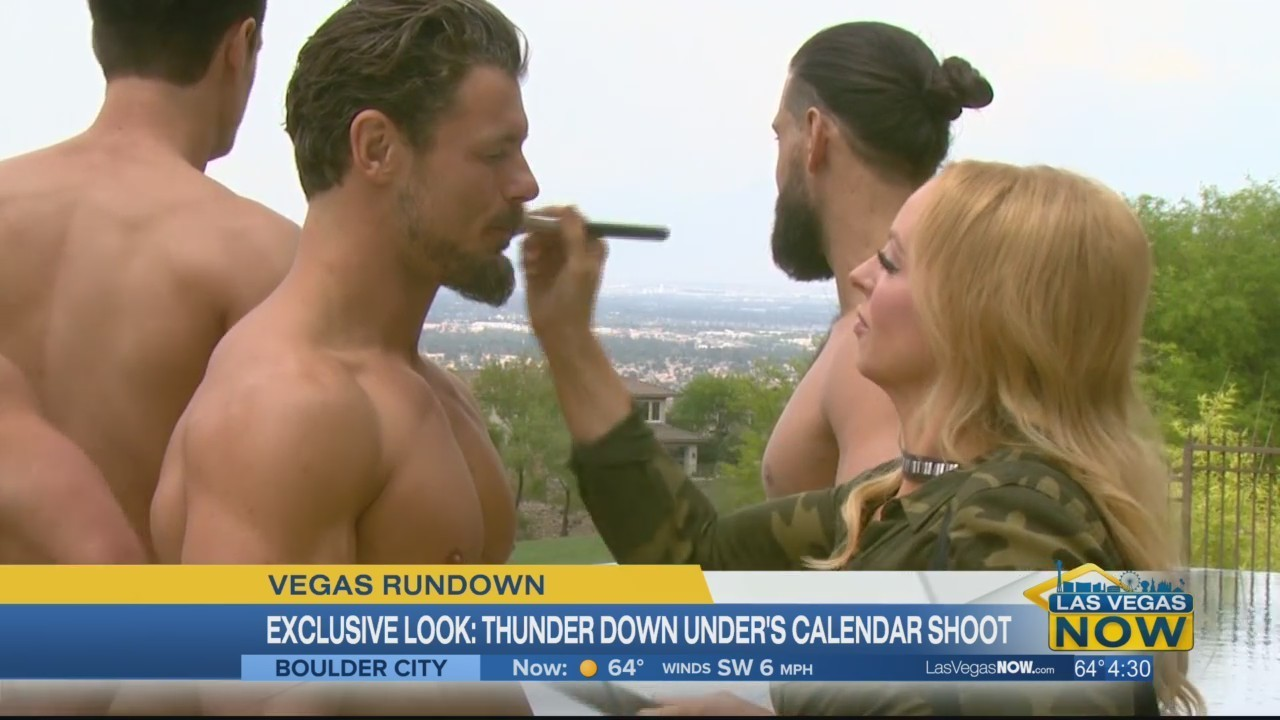 A Look At The Thunder From Down Under Calendar Shoot