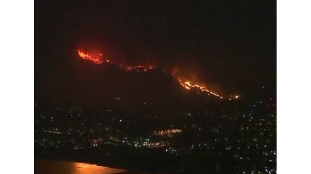 LIVE: Aerials over the Holy fire in southern California