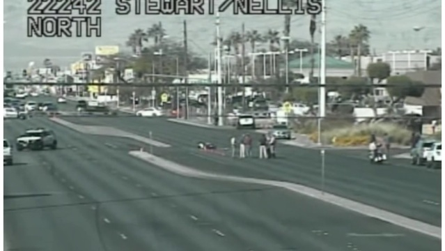 Motorcyclist killed in crash at Stewart and Nellis