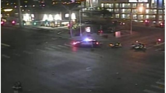 Driver dies after fiery crash on Flamingo, Swenson