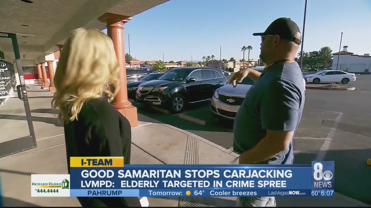 only on 8: good samaritan prevents carjacking