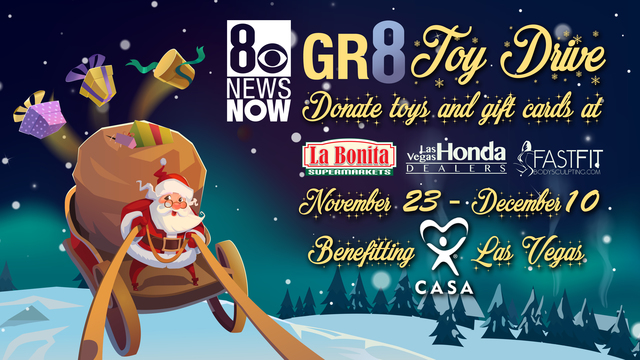 8 News NOW GR8 TOY DRIVE