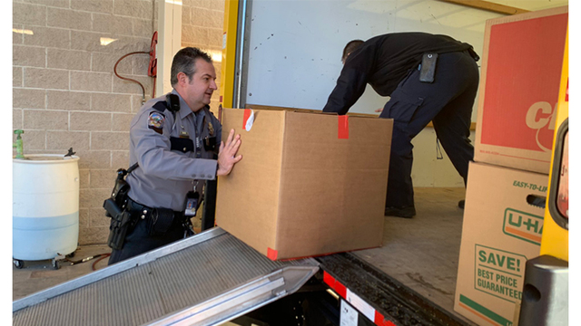 NHP, local police collect items to donate to California's first responders