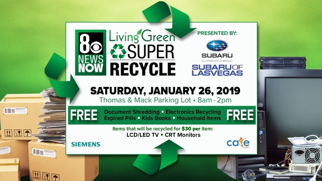 8th Annual Super Recycle Event to take place on Jan. 26